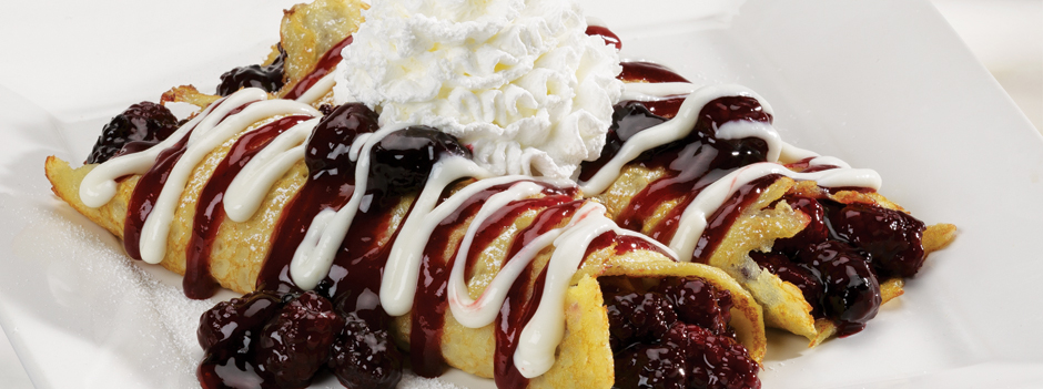 Seasonal Entrée: Marionberry Crepes